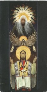 An Icon by Robert Lentz that depicts the Holy Spirit as a Falcon