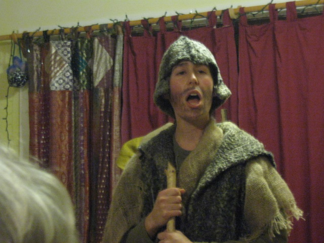 "One of the Shepherds in the ""Shepherd's Play""."