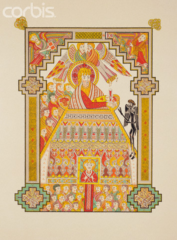 Reproduction of Temptation of Jesus Christ from the Book of Kells